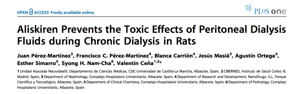 Aliskiren Prevents the Toxic Effects of Peritoneal Dialysis Fluids during Chronic Dialysis in Rats